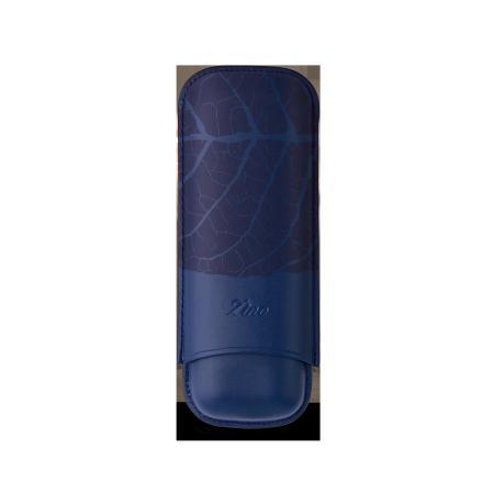 Zino Cigar Case 'Graphic Leaf', Blue - 2 Cigars / XL
