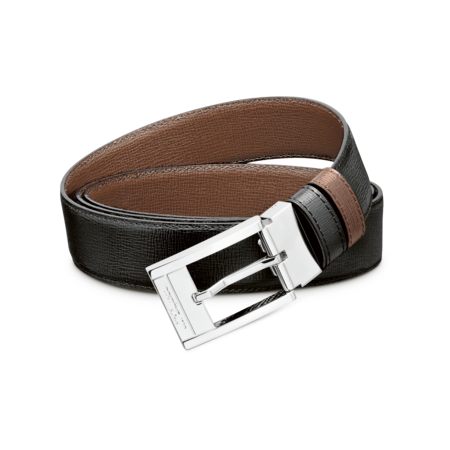 S.T. Dupont Belt Reversible Black / Brown, Grained Delta Box