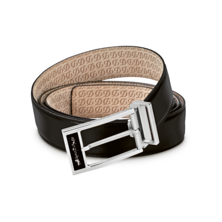 S.T. Dupont Belt Heritage Ligne, Black Box / Palladium Dust A