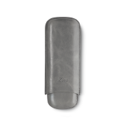 Zino Cigar Case Grey, 2  Cigars / XL