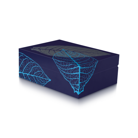 Zino Humidor 'Graphic Leaf', Blue