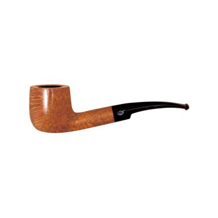 Davidoff Pot Half Bent Pipe, Natural Light Brown