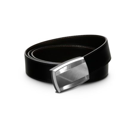 S.T. Dupont Belt Reversible Black / Brown, Brushed