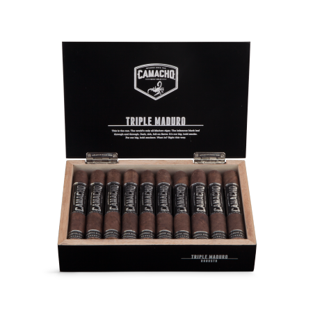 Camacho Triple Maduro Robusto, Box of 20