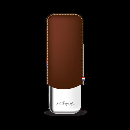 S.T. Dupont Cigar Case 2 Cigars, Brown