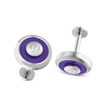 S.T. Dupont Cufflinks Jeton Collection, Purple