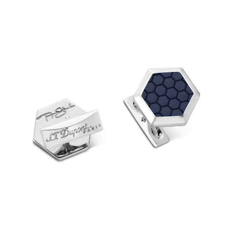 S.T. Dupont Tony Stark Cuff Links, Blue and Palladium