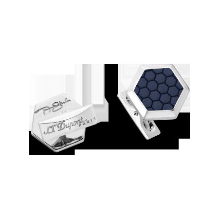 S.T. Dupont Tony Stark Cuff Links, Blue and Palladium