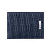S.T. Dupont Tony Stark Wallet, Blue Leather 6 Credit Card Holder