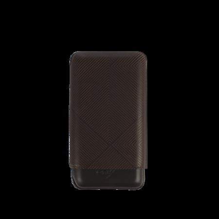 Davidoff Cigar Case Leaf, Brown / 3 Cigars / XL