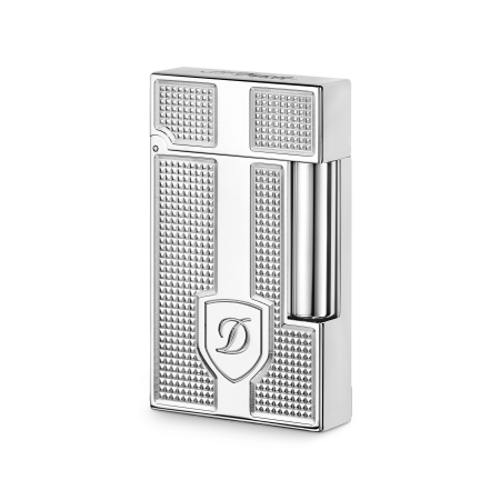 S.T. Dupont Ligne 2 'Precious Metals' Lighter, Palladium Blazon
