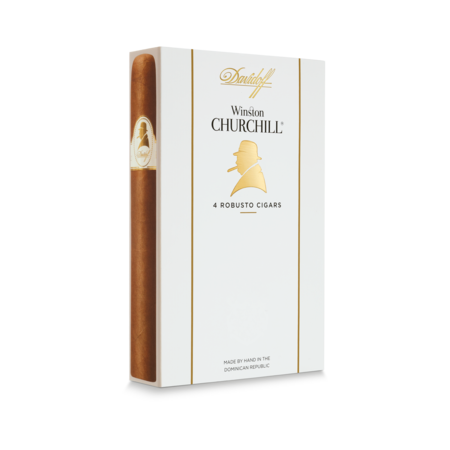 Davidoff Winston Churchill Robusto, Pack of 4