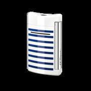 S.T. Dupont MiniJet Lighter, White / Blue Stripes
