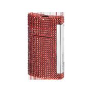 S.T. Dupont MiniJet Lighter 'Swarowski', Red