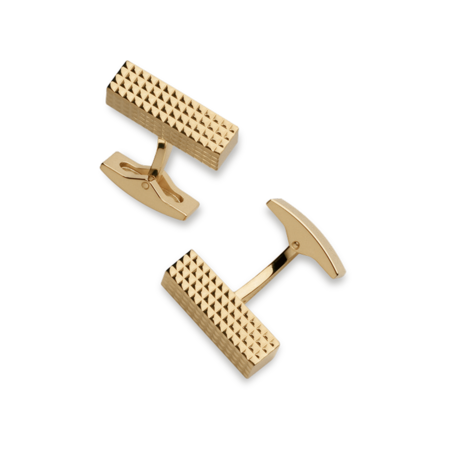 S.T. Dupont Cufflinks Diamond Head Collection, Rectangle / Gold