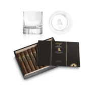 Davidoff Winston Churchill Late Hour Robusto Set, Box of 20 + 2 Glass Set