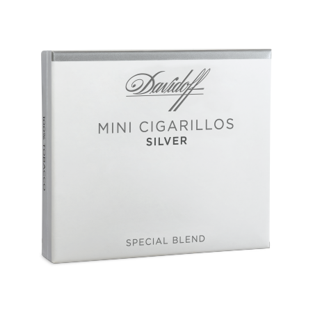 Davidoff Mini Cigarillos Silver, Pack of 10