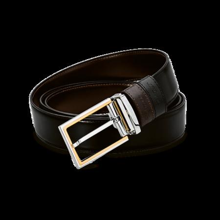 S.T. Dupont Belt Reversible Black / Brown, Delta Box / Bicolor