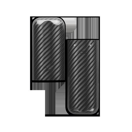 Zino Cigar Case Carbon Fiber, 2 Cigars / XL