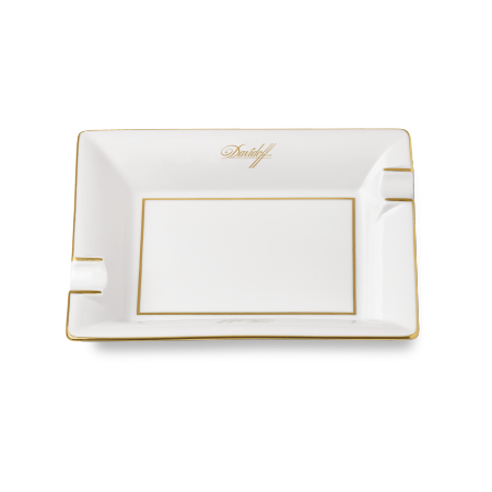 Davidoff Porcelain Ashtray, White / Large