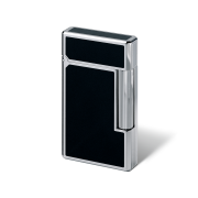 Davidoff Double Flame Lighter 'Prestige', Black / Palladium Coated