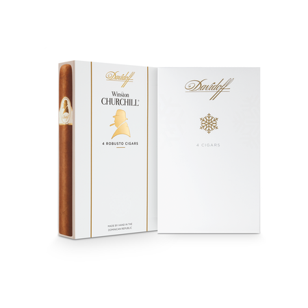 Davidoff Winston Churchill Robusto, Holiday Gift Pack of 4