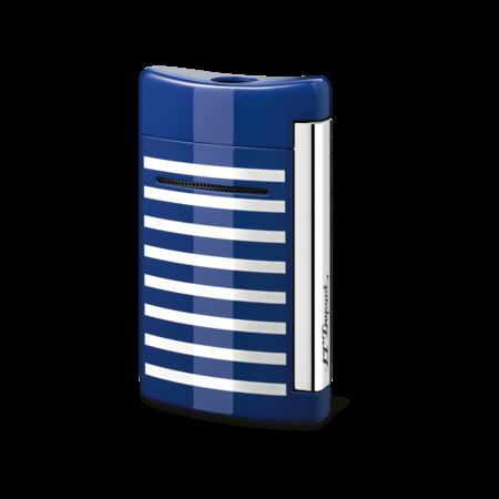 S.T. Dupont MiniJet Lighter, Blue / White Stripes