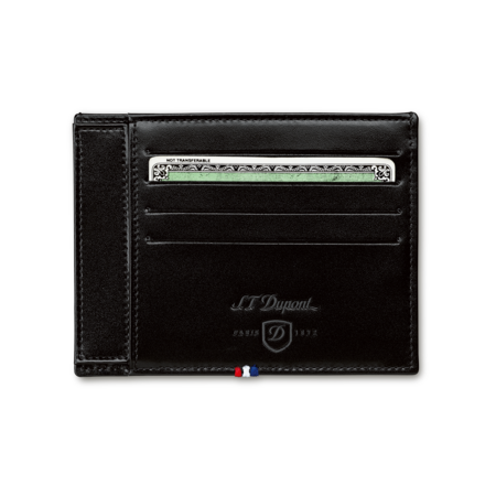 S.T. Dupont Credit Card Holder, 4 CC / ID Holder / Black