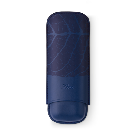 Zino Cigar Case 'Graphic Leaf', Blue - 2 Cigars / XL