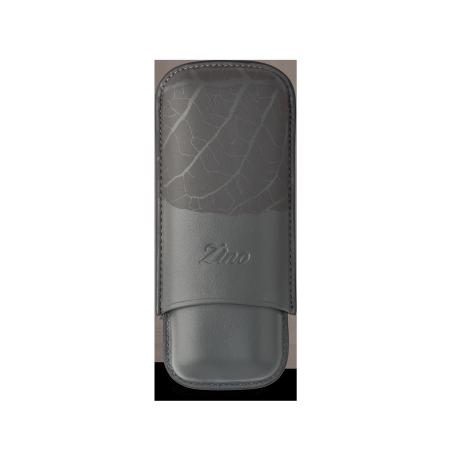 Zino Cigar Case 'Graphic Leaf', Grey - 2 Cigars / R
