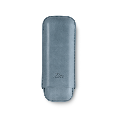 Zino Cigar Case Light Blue, 2  Cigars / XL