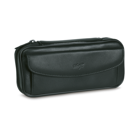 Davidoff Leather Case for 2 Pipes, Black, Black