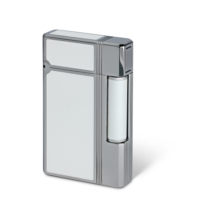Davidoff Double Flame Lighter 'Prestige', White / Palladium