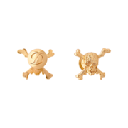 S.T. Dupont Pirates of the Caribbean Cufflinks, Gold Plated Skull