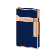 S.T. Dupont Ligne 2 'Chinese Lacquer' Lighter, Blue Lacquer / Rose Gold