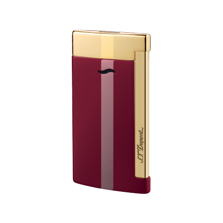 S.T. Dupont Slim 7 Lighter, Lotus Red & Gold