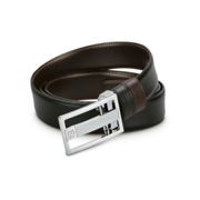 S.T. Dupont Belt Reversible Black / Brown, Large Delta Box / Palladium