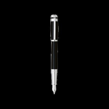 S.T. Dupont Line D Pen Black & Palladium Ring, Fountain