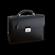 S.T. Dupont Briefcase Line D Gusset, Black