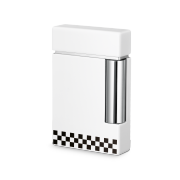 S.T. Dupont Ligne 8 Lighter, White / Black Check