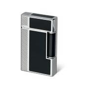 Davidoff Double Flame Lighter 'Prestige', Black / Palladium