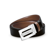 S.T. Dupont Belt Reversible Black / Brown, Large Grained Delta Box