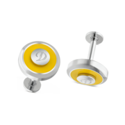 S.T. Dupont Cufflinks Jeton Collection, Yellow