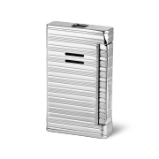 Davidoff Jet Flame Lighter, Horizontal Lines / Palladium Coated