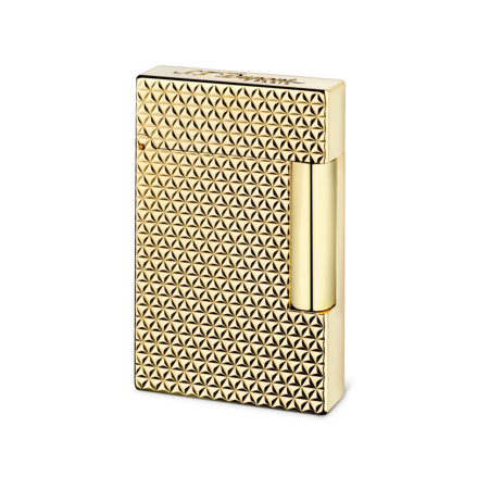 S.T. Dupont Ligne 2 Fire Head Lighter, Gold