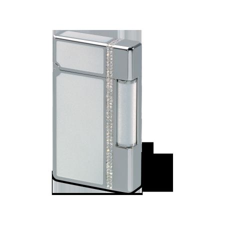 Davidoff Lighter Laquer, White / Palladium / Diamond