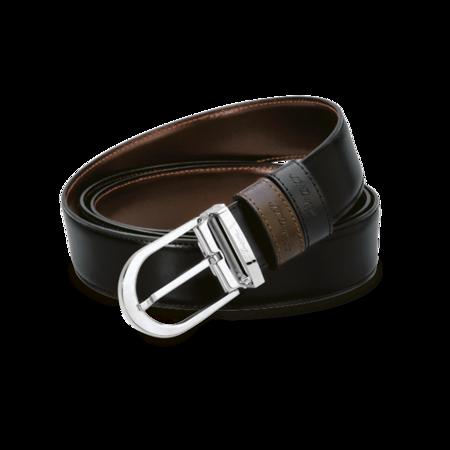 S.T. Dupont Belt Reversible Black / Brown, Classic Delta / Palladium