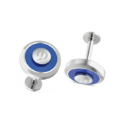 S.T. Dupont Cufflinks Jeton Collection, Blue