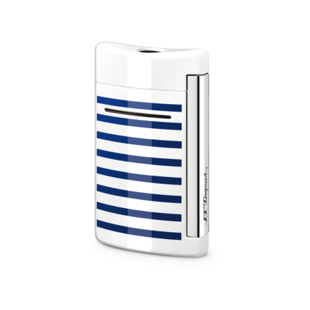 S.T. Dupont MiniJet Lighter, White / Blue Stripes