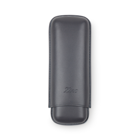 Zino Cigar Case Grey and Cyan, 2 Cigars / XL
